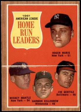 1962 Topps - [Base] #53 - Roger Maris, Mickey Mantle, Harmon Killebrew, Jim Gentile [VGEX]