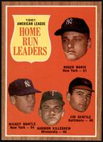 Roger Maris, Mickey Mantle, Harmon Killebrew, Jim Gentile [EX MT+]