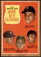 Roger Maris, Mickey Mantle, Harmon Killebrew, Jim Gentile [EX MT]