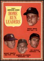 Roger Maris, Mickey Mantle, Harmon Killebrew, Jim Gentile [NM+]
