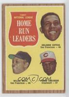 National League Home Run Leaders (Orlando Cepeda, Willie Mays, Frank Robinson)