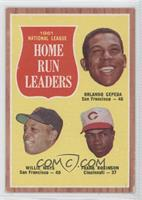 Orlando Cepeda, Willie Mays, Frank Robinson [Noted]
