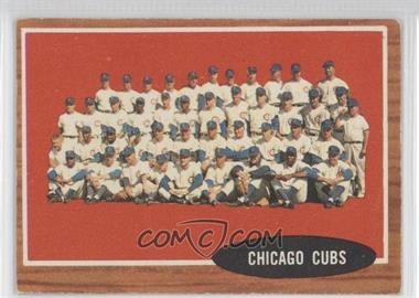 1962 Topps - [Base] #552 - High # - Chicago Cubs Team