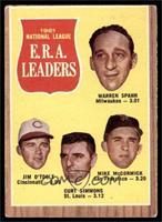 1961 National League E.R.A. Leaders (Warren Spahn, Jim O'Toole, Curt Simmons, M…
