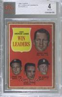 1961 American League Win Leaders (Whitey Ford, Frank Lary, Steve Barber, Jim Bu…
