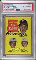 1961 National League Win Leaders (Warren Spahn, Joe Jay, Jim O'Toole) [PSA/DNA&…