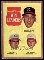 1961 National League Win Leaders (Warren Spahn, Joe Jay, Jim O'Toole) [VG…