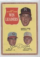 Warren Spahn, Joey Jay, Jim O'Toole [Noted]
