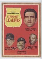 1961 American League Strikout Leaders (Camilo Pascual, Whitey Ford, Jim Bunning…