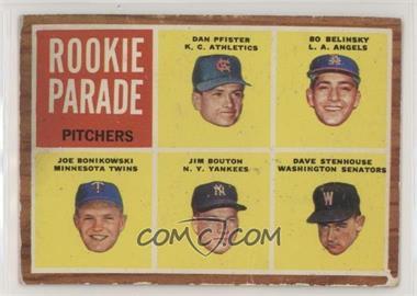 1962 Topps - [Base] #592 - High # - Dan Pfister, Bo Belinsky, Joe Bonikowski, Jim Bouton, Dave Stenhouse [PoortoFair]