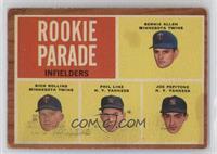 Rookie Parade - Bernie Allen, Rich Rollins, Phil Linz, Joe Pepitone [Poor…