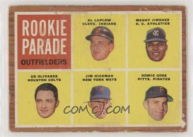 1962 Topps - [Base] #598 - Rookie Parade - Al Luplow, Manny Jimenez, Ed Olivares, Jim Hickman, Howie Goss [Poor to Fair]