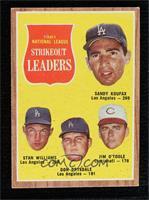 Sandy Koufax, Stan Williams, Don Drysdale, Jim O'Toole