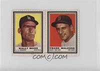 Wally Moon, Frank Malzone [Good to VG‑EX]