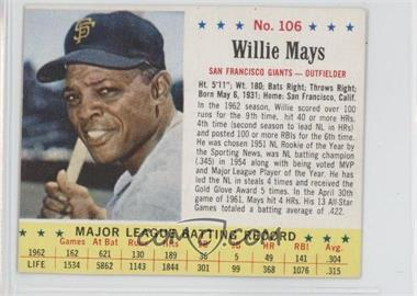 1963 Jell-O - [Base] #106 - Willie Mays