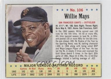 1963 Jell-O - [Base] #106 - Willie Mays [Authentic]