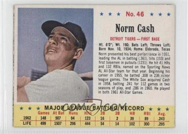 1963 Jell-O - [Base] #46 - Norm Cash