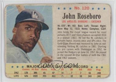 1963 Post - [Base] #120 - John Roseboro [Authentic] - Courtesy of COMC.com
