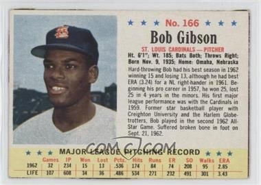 1963 Post - [Base] #166 - Bob Gibson [Authentic]
