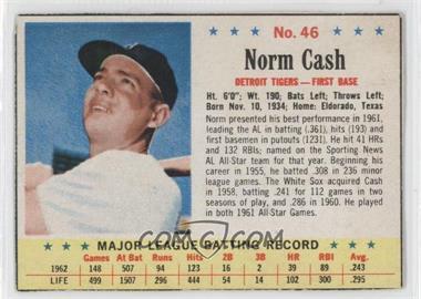 1963 Post - [Base] #46 - Norm Cash