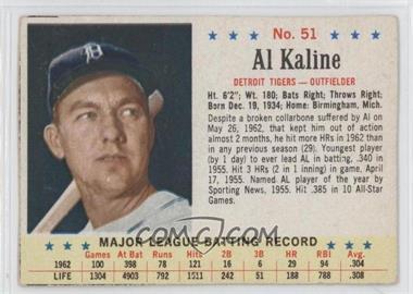 1963 Post - [Base] #51 - Al Kaline