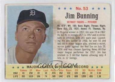 1963 Post - [Base] #53 - Jim Bunning