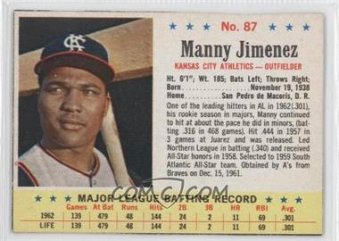 1963 Post - [Base] #87 - Manny Jimenez