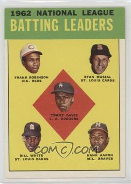 1963 Topps - [Base] #1 - 1962 National League Batting Leaders (Frank Robinson, Stan Musial, Tommy Davis, Bill White, Hank Aaron)