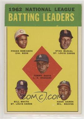 1963 Topps - [Base] #1 - 1962 National League Batting Leaders (Frank Robinson, Stan Musial, Tommy Davis, Bill White, Hank Aaron)