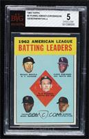 1962 American League Batting Leaders (Mickey Mantle, Floyd Robinson, Pete Runne…