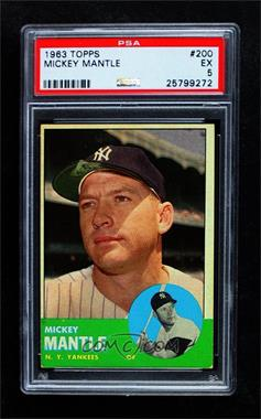 1963 Topps - [Base] #200 - Mickey Mantle [PSA 5 EX]
