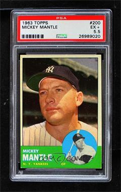 1963 Topps - [Base] #200 - Mickey Mantle [PSA 5.5 EX+]