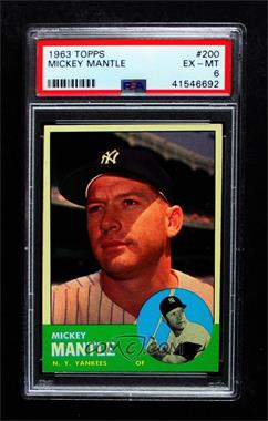 1963 Topps - [Base] #200 - Mickey Mantle [PSA 6 EX‑MT]