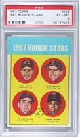 1963 Rookie Stars (Max Alvis, Bob Bailey, Ed Kranepool, Pedro Oliva) [PSA…