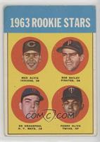 1963 Rookie Stars (Max Alvis, Bob Bailey, Ed Kranepool, Pedro Oliva) [Good…