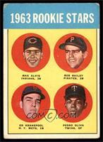 1963 Rookie Stars (Max Alvis, Bob Bailey, Ed Kranepool, Pedro Oliva) [GOOD]