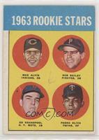1963 Rookie Stars (Max Alvis, Bob Bailey, Ed Kranepool, Pedro Oliva) [Poor…