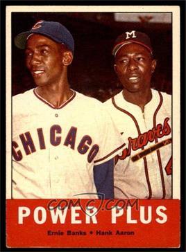 1963 Topps - [Base] #242 - Power Plus (Ernie Banks, Hank Aaron) [GOOD]