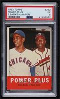 Power Plus (Ernie Banks, Hank Aaron) [PSA5EX]