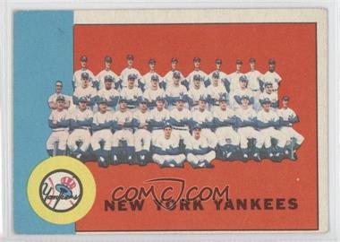 1963 Topps - [Base] #247 - New York Yankees Team