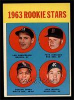 1963 Rookie Stars (Len Gabrielson, Pete Jernigan, Deacon Jones, John Wojcik) [E…