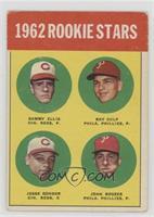 1962 Rookie Stars (Sammy Ellis, Ray Culp, Jesse Gonder, John Boozer) [Good&nbsp…