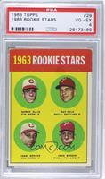 1963 Rookie Stars (Sammy Ellis, Ray Culp, Jesse Gonder, John Boozer) [PSA…