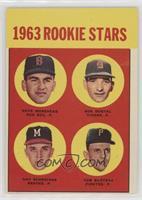 1963 Rookie Stars (Dave Morehead, Dan Schneider, Tom Butters)