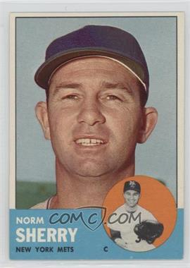 1963 Topps - [Base] #316 - Norm Sherry
