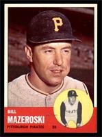 Bill Mazeroski Baseball Cards From 1963