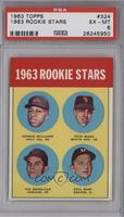 Rookie Stars (George Williams, Pete Ward, Vic Davalillo, Phil Roof) [PSA6…