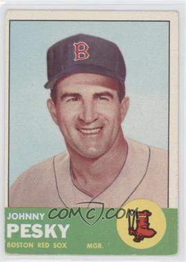 1963 Topps - [Base] #343 - Johnny Pesky