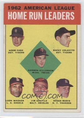 1963 Topps - [Base] #4 - 1962 American League Home Run Leaders (Norm Cash, Rocky Colavito, Harmon Killebrew, Leon Wagner, Jim Gentile, Roger Maris)