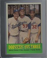 Johnny Podres, Don Drysdale, Sandy Koufax [NearMint]